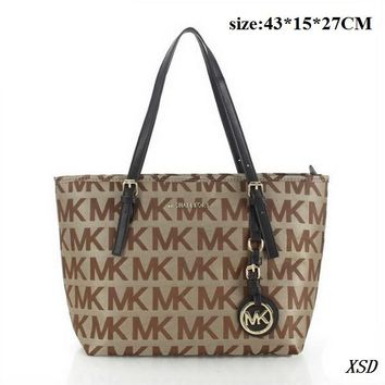 Michael Kors Signature Tote Shoulder Bag And Signature Wallet