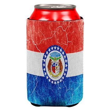 Missouri Vintage Distressed State Flag All Over Can Cooler