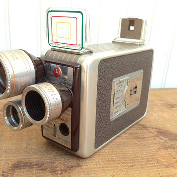 Vintage Brownie Movie Camera in Box Turret Model