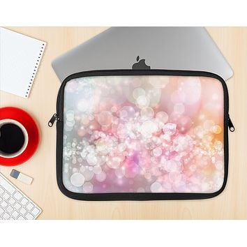 The Unfocused Pink Abstract Lights Ink-Fuzed NeoPrene MacBook Laptop Sleeve