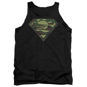 Superman - Camo Logo Adult Tank Top Officially Licensed Apparel