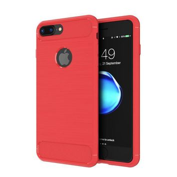 Red Ultra Thin Ultra Protect Case for iPhone 7+,7