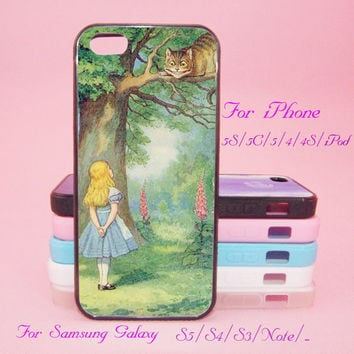 Alice In Wonderland,iPod Touch 5,iPad 2/3/4,iPad mini,iPad Air,iPhone 5s/ 5c / 5 /4S/4 , Galaxy S3/S4/S5/S3 mini/S4 mini/S4 active/Note