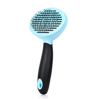 Pet hair removal brush with unique self-cleaning mechanism