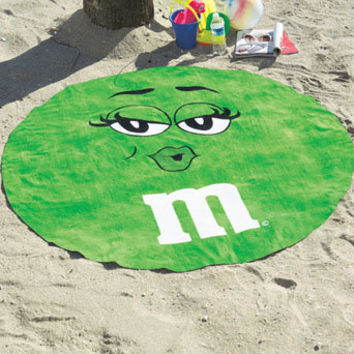 M&M's?- Round Beach Towels