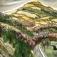 Zig Zag Hill painting, Newtown, Powys, Wales by Linandara