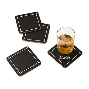 Blackboard Coasters - Set of 4 | chalkboard coaster
