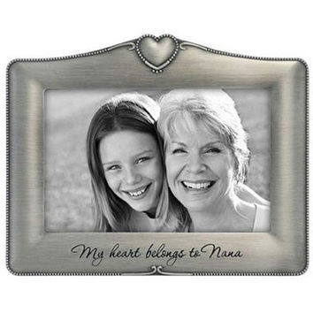 My Heart Belongs To Nana Pewter Photo Frame