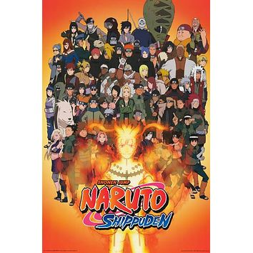 Naruto Shippuden Anime Cartoon Poster 24x36