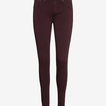 rag & bone/JEAN Skinny Plush: Wine-Just In-Clothing-Categories- IntermixOnline.com