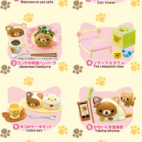 Strapya World : Re-Ment San-X Rilakkuma Nonbiri Neko Carefree Cat Cafe Petite Figure (Single Piece / Random)