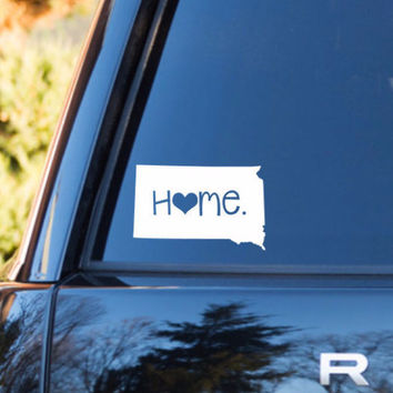 North Dakota Home Decal | North Dakota Decal | Homestate Decals | Love Sticker | Love Decal  | Car Decal | Car Stickers | 074