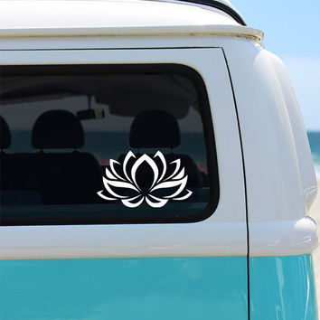 Lotus Flower Vinyl Window Decal - Car Sticker - Car Decal