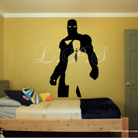 large Iron Man Tony Starks Wall Decal, Teen Boy Room Decal Large wall Decor FAST shipping with in 24 hours