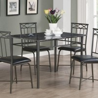Coaster Home Furnishings 150115 5-Piece Casual Dining Room Set, Black/Black