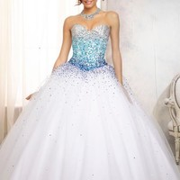 2014 Vizcaya Quinceanera Tulle Skirt Dress 88086