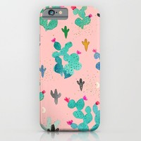 Cactus Desert Pink Dusk Moon iPhone & iPod Case by Crystal ★ Walen
