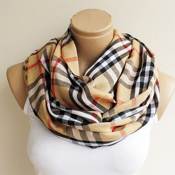 Plaid Scarf, Winter Scarf, Camel Scarf, Check Cowl Scarf Unisex Plaid Scarf Mustard Yelow Cowl Shawl Tartan Plaid Scarf Men Women Scarf
