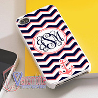 Monogram Phone Case Otterbox Nautical Chevron For iPhone 4/4s Cases, iPhone 5 Cases, iPhone 5S/5C Cases, iPhone 6 cases & Samsung Galaxy S2/S3/S4/S5 Cases