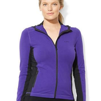 Lauren Ralph Lauren Plus Color Blocked Hoodie