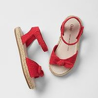 Strappy bow jute sandals | Gap