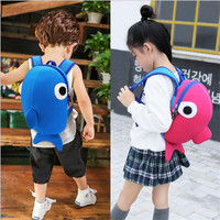 KAKAXI Waterproof Neoprene Kindergarten Cartoon Schoolbag Whale Lovely Book Backpack High Quality School Bag For Boy Girl P230