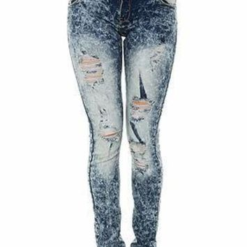 Pearl Jeans Collection Skinny Jeans (Ice Mid Blue)