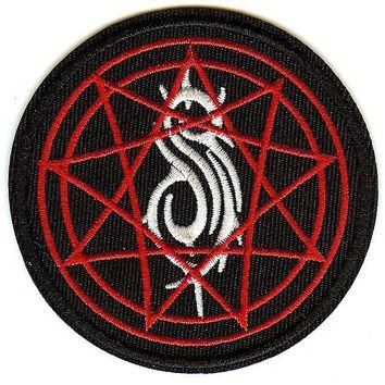 Slipknot Iron-On Patch Round Pentagram Symbol Logo