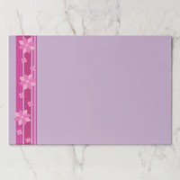 Pink Flowers Paper Pad