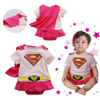2015 Halloween Costume Baby Cosplay Romper Superman Cotton Girl Newborn Pajama = 1946296068