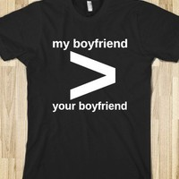 Boyfriend-Unisex Black T-Shirt