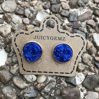 12mm Glamour Royal Blue Drusy