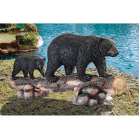Park Avenue Collection Mother Black Bear And Cub Statue