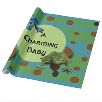 A Charming Baby Frogs Wrapping Paper