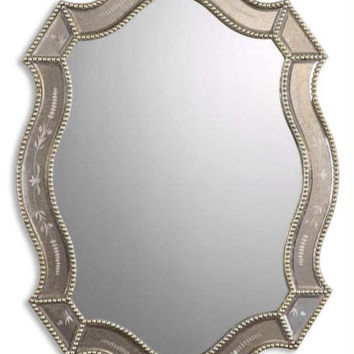 Wall Mirror - Golden Antiqued, Etched Mirrors