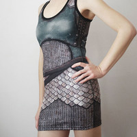 Armour Dress - Gaheris - Sample 2 - Printed Chainmail