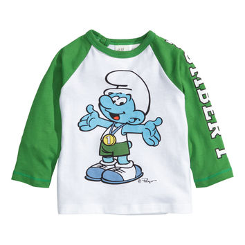 H&M - Long-sleeved T-shirt - Green - Kids