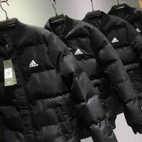 adidas Men Fashion Long Sleeve Cardigan Bread Down Coat Cotton-padded Clothes Jacket  G-MG-FSSH