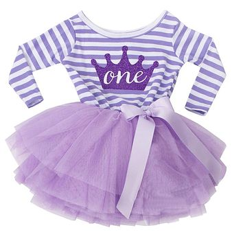 Baby Dresses Girl Party Wear Dress Children Clothing Girl Baby 1st Birthday Outfits Tutu Kids Clothes Toddler Girl Baptism Dress