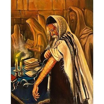 Western Wall Israel Kotel On Art Canvas
