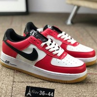 """NIKE AIR FORCE 1 """"COCOA SNAKE"""" AF1 Trendy Sneakers F-CSXY red"""