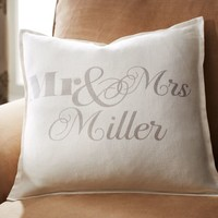 Personalized Mr. & Mrs. Pillow Cover