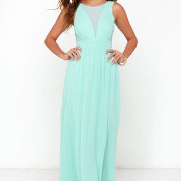 Bright Like a Diamond Mint Maxi Dress