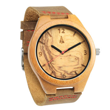 Wooden Watch // Olive Ash Red