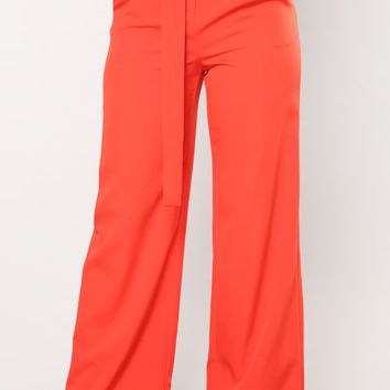 Magnolia Buckle Pants - Red