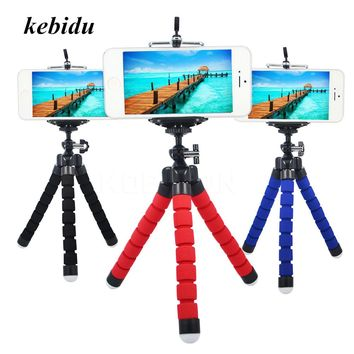 kebidu Mini Portable Flexible Sponge Octopus Tripod Stand Mount With Holder For Phone Gopro Camera Tripod Drop Shipping