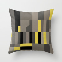 White Rock Yellow Throw Pillow by Project M