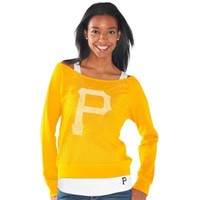 Pittsburgh Pirates Ladies Holy Sweatshirt & Tank Set - Gold