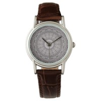Boho Grey and White Flower Watch