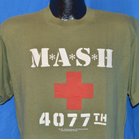 1981 M*A*S*H MASH 4077th Olive Green t-shirt Large